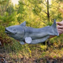 Handmade Catfish Urn Sculpture