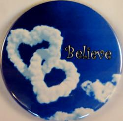 Double Heart Cloud Magnet or Pin
