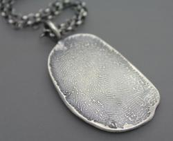 Custom Sterling Fingerprint Necklace