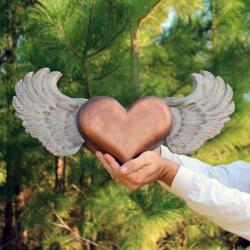 Handmade Flying Heart Urn