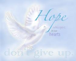 Don't Give Up - Photoword Art by Marji Stevens