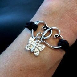 Flutterbye Linked Hearts Bracelet