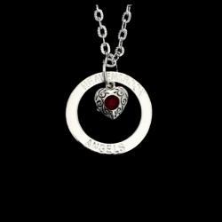 Bleeding Heart Halo Necklace
