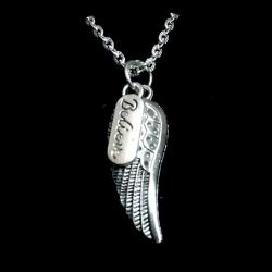 Believe In Angels Large Wing Necklace