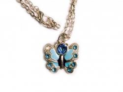 Crystal Enamel FlutterBye Necklace
