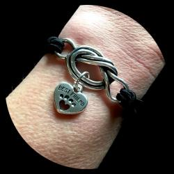 Best Friend Pet Angels Forget Me Knot Bracelet
