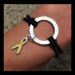 Childhood Cancer Awareness Halo Bracelet
