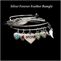 All My Love Forever Feather Bangle