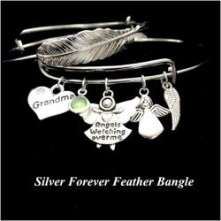Angels Watching Over Me Forever Feather Bangle