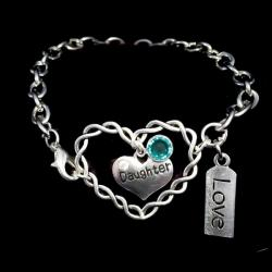 Guardian Angel Twisted Heart Charm Bracelet