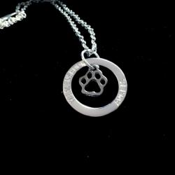 Dog Paw Halo Necklace