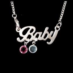 Swarovski Crystal Angel Baby Necklace