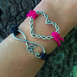 Twisted Heart Infinity Love Bracelet Stack