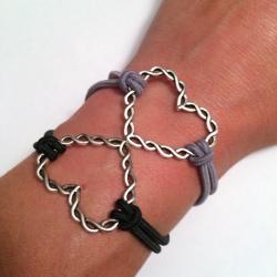 Twisted Hearts Bracelet Stack