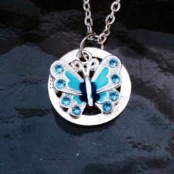Blue FlutterBye Halo Necklace