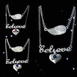 Believe in Guardian Angels Layered Necklaces