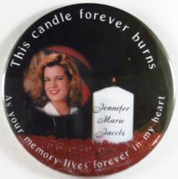 Photo Holiday Candles Magnet or Pin