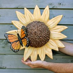 SUNFLOWER & BUTTERFLY- Cremation Urn Sculpture