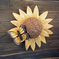 Sunflower Butterfly Cremation Urn Sculpture