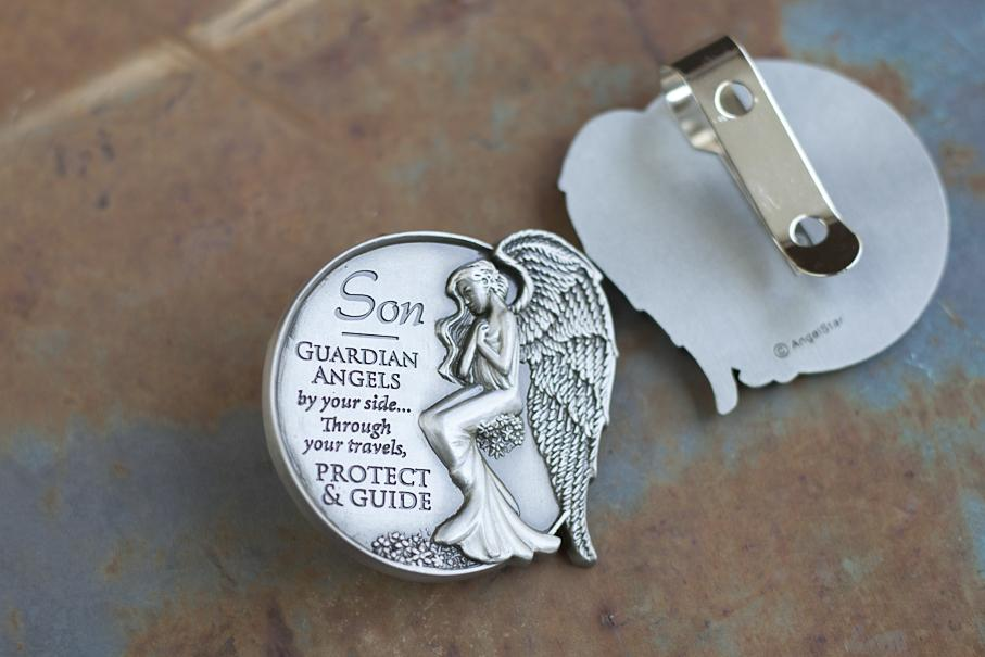 Protected by Angels Visor Clip.