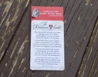 Reunion Heart Lapel Pin and Pocketcard