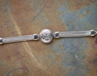 Angel Wings Single Charm Toggle Bracelet